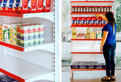 góndolas especiales para supermercado